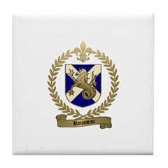 ROUSSEAU Family Crest Tile Coaster