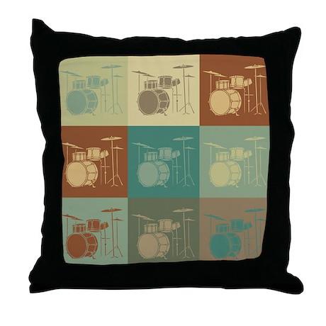 Drums Pop Art Throw Pillow