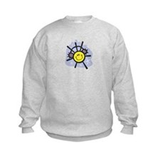 Christmas snowflake smiley wearing ear muffs Sweatshirt