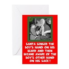 Humorous Santa's sack Xmas Greeting Cards (Pk of 2