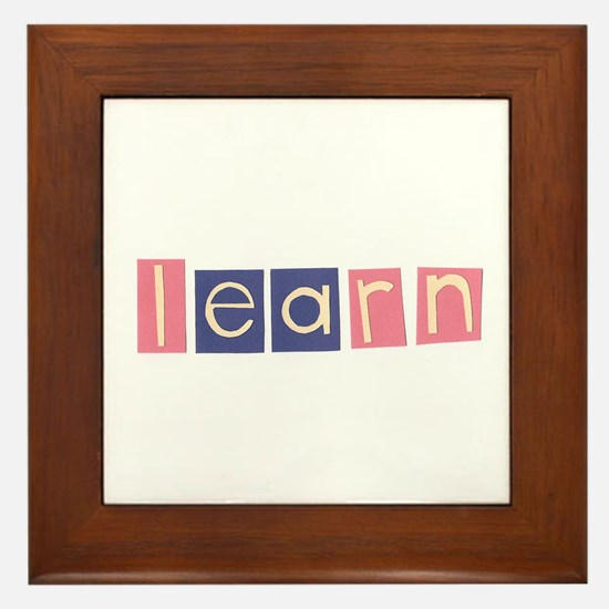 Cute Spelling Framed Tile