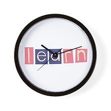 Cute Spelling Wall Clock