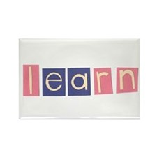 Cute Learn.trace Rectangle Magnet