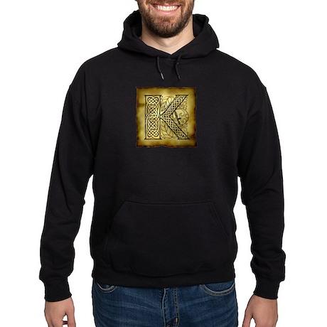 Celtic Letter K Hoodie (dark)