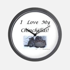 Cute Chinchillas Wall Clock