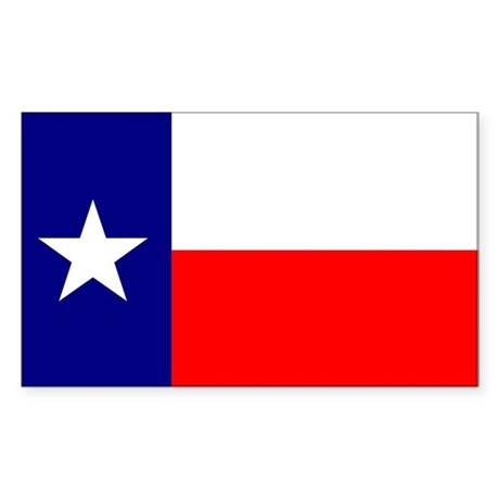 Texas Flag Sticker (Rect.)