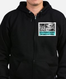 ACT OF KINDNESS.. Zip Hoodie (dark)