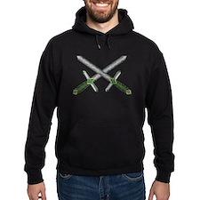 Crossed Celtic Daggers Hoodie