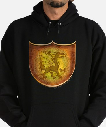 Copper Dragon Shield Hoodie (dark)