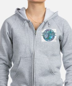Cool Celtic Dragonfly Zip Hoodie