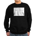 THE PUREST LOVE Sweatshirt (dark)
