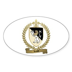 ROSSE Family Crest Oval Decal