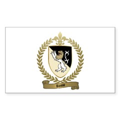 ROSSE Family Crest Rectangle Decal