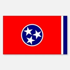 Tennessee Flag Sticker (Rect.)