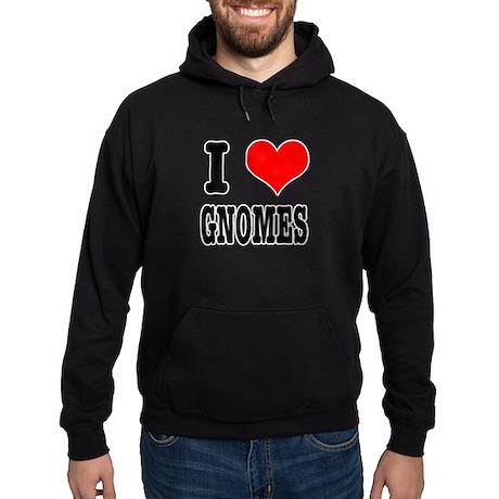 I Heart (Love) Gnomes Hoodie (dark)