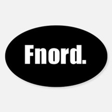 Fnord Oval Decal