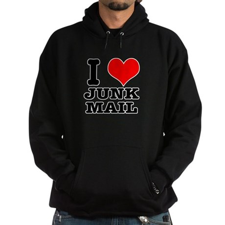 I Heart (Love) Junk Mail Hoodie (dark)