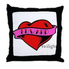 Edward Cullen Twilight Heart Throw Pillow