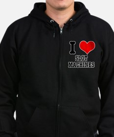 I Heart (Love) Slot Machines Zip Hoodie (dark)