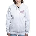 Violet Cat Women's Zip Hoodie