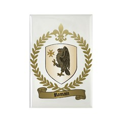 ROMAIN Family Crest Rectangle Magnet (100 pack)