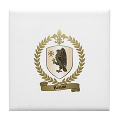 ROMAIN Family Crest Tile Coaster