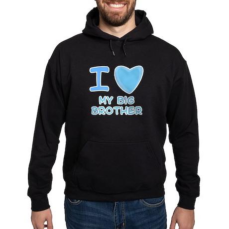 Blue I Heart (Love) My Big Br Hoodie (dark)
