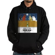 Cute Cats on a fence Hoodie