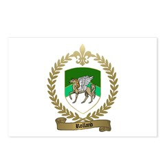 ROLLAND Family Crest Postcards (Package of 8)