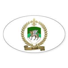 ROLLAND Family Crest Oval Decal