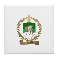 ROLLAND Family Crest Tile Coaster