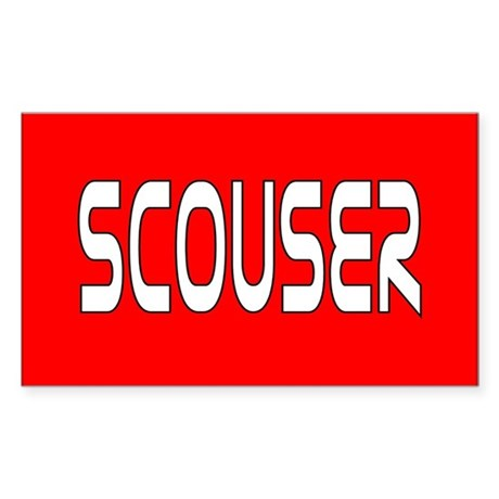 Red Scouser Rectangle Sticker