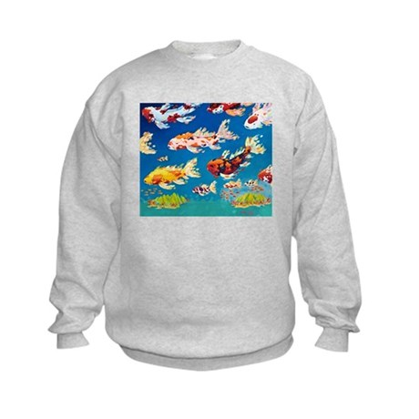 Koi Clouds Kids Sweatshirt