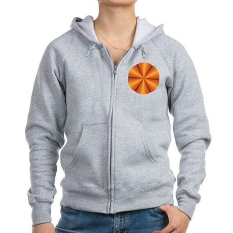 Orange Illusion Women's Zip Hoodie