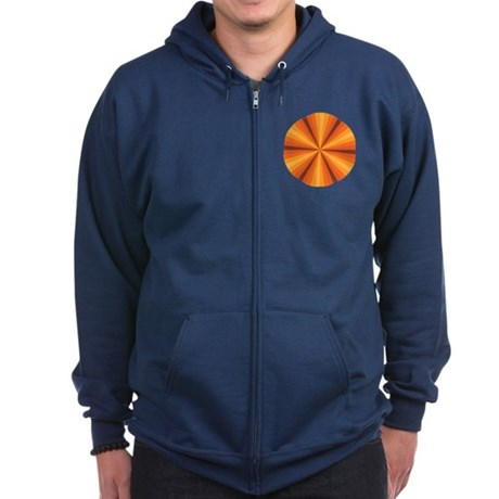 Orange Illusion Zip Hoodie (dark)