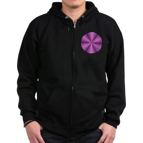 Purple Illusion Zip Hoodie (dark)