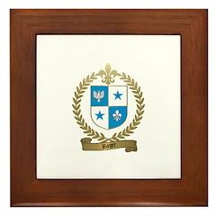 ROGER Family Crest Framed Tile