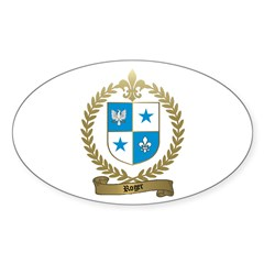 ROGER Family Crest Oval Decal