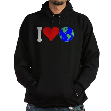 I Love Earth (design) Hoodie (dark)