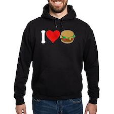 I Love Hamburgers (design) Hoodie