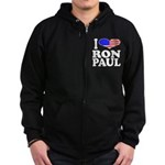 I Love Ron Paul Zip Hoodie (dark)