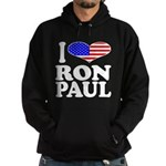 I Love Ron Paul Hoodie (dark)