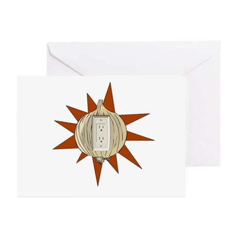 Onion Power Outlet Greeting Cards (Pk of 10)