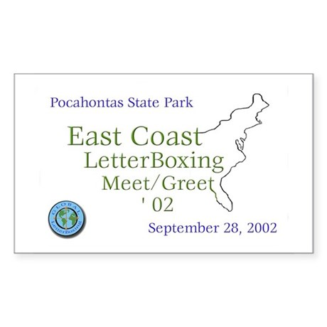 East Coast LetterBoxing M/G Sticker