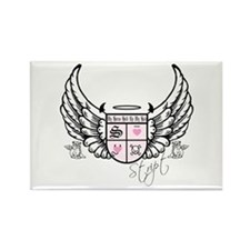 Stript Crest w/ Wings Rectangle Magnet