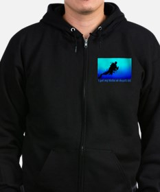I Get My Kicks at Depth 66 Zip Hoodie