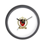 ROI Family Crest Wall Clock