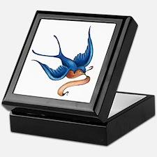 Blue Swallow Keepsake Box