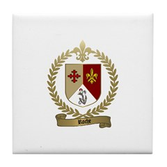 ROCHE Family Crest Tile Coaster