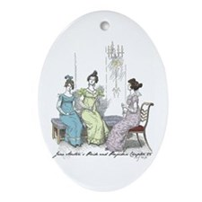 Pride & Prejudice Ch 25 Oval Ornament